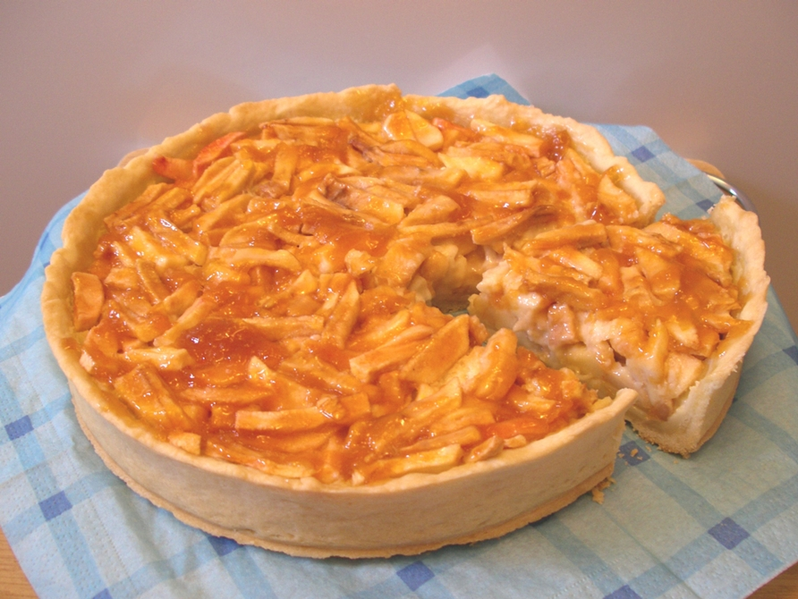 Пирог с яблочным желе